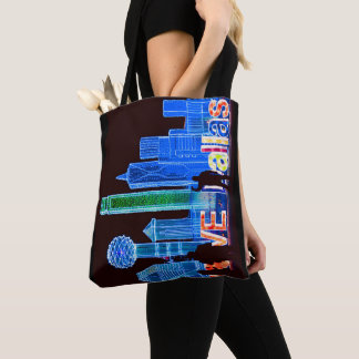 """Dallas"" All Over Print Tote Bag"