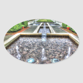 Dallas Arboretum and Botanical Garden Oval Sticker