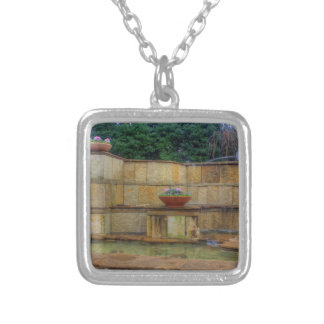 Dallas Arboretum and Botanical Gardens Entrance Silver Plated Necklace
