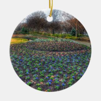 Dallas Arboretum and Botanical Gardens flower bed Ceramic Ornament