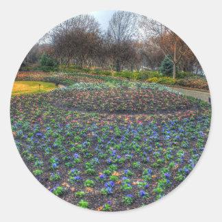 Dallas Arboretum and Botanical Gardens flower bed Classic Round Sticker