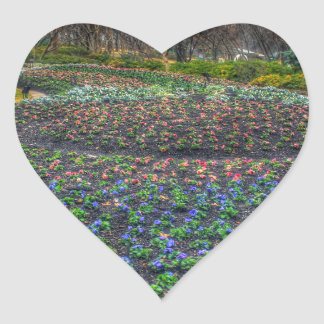 Dallas Arboretum and Botanical Gardens flower bed Heart Sticker