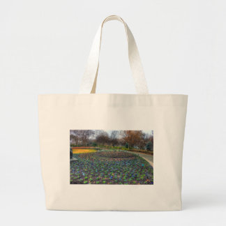 Dallas Arboretum and Botanical Gardens flower bed Large Tote Bag