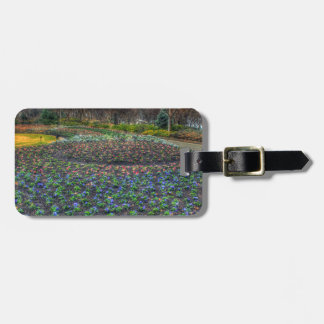 Dallas Arboretum and Botanical Gardens flower bed Luggage Tag