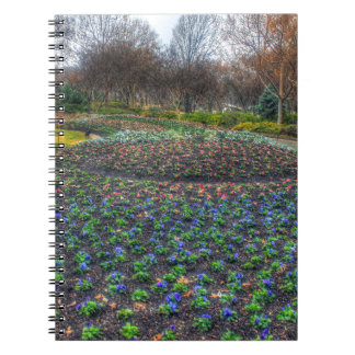Dallas Arboretum and Botanical Gardens flower bed Notebooks