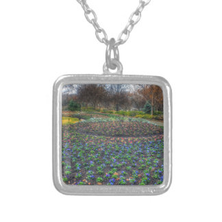 Dallas Arboretum and Botanical Gardens flower bed Silver Plated Necklace