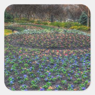 Dallas Arboretum and Botanical Gardens flower bed Square Sticker