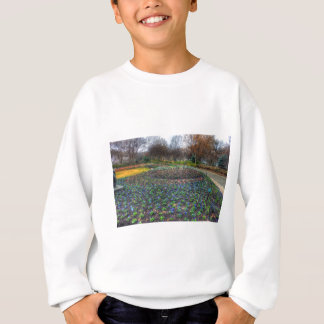 Dallas Arboretum and Botanical Gardens flower bed Sweatshirt