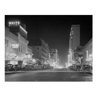 Dallas At Night, 1942 Postcard