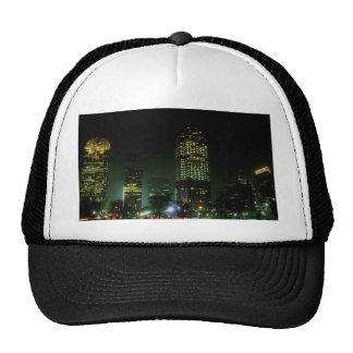 Dallas at night, Texas, U.S.A. Hats