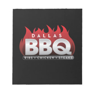 "Dallas BBQ 5.5"" x 6"" Notepad - 40 pages"