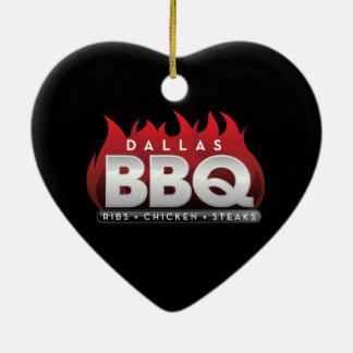 Dallas BBQ Heart Ornament