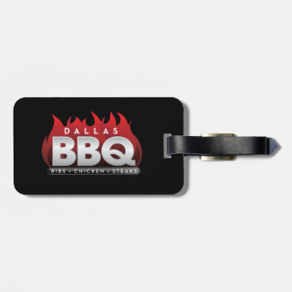 Dallas BBQ Luggage Tag w/ leather strap
