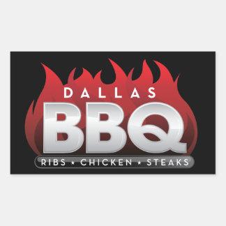 Dallas BBQ Rectangle Stickers