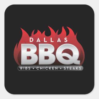 Dallas BBQ Square Stickers