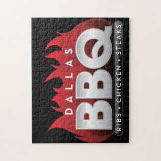 Dallas BBQ Square Stickers  Photo Puzzle