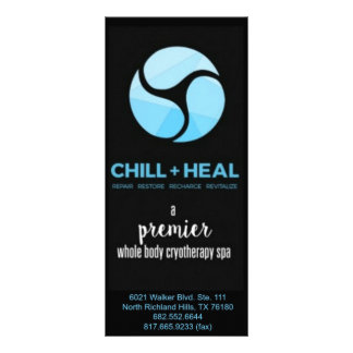 Dallas Chill + Heal Rackcard Rack Cards