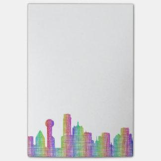 Dallas city skyline post-it® notes