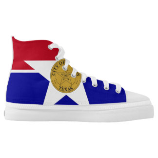 Dallas city Texas flag america symbol usa High Tops