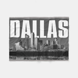Dallas Cityscape Fleece Blanket