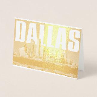 Dallas Cityscape Foil Card