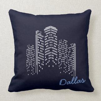 Dallas cityscape Polyester Pillow