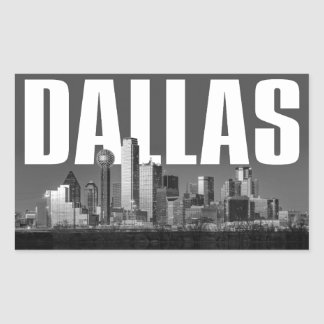 Dallas Cityscape Rectangular Sticker