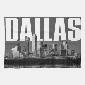 Dallas Cityscape Tea Towel