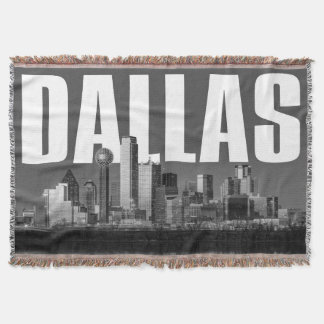 Dallas Cityscape Throw Blanket