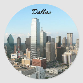 dallas downtown classic round sticker