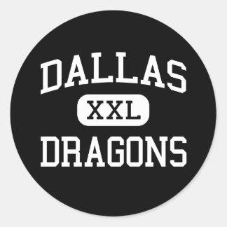 Dallas - Dragons - High School - Dallas Oregon Round Sticker