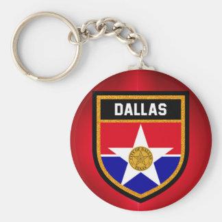 Dallas  Flag Basic Round Button Key Ring