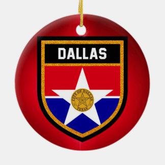 Dallas  Flag Ceramic Ornament