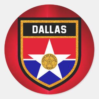 Dallas  Flag Classic Round Sticker