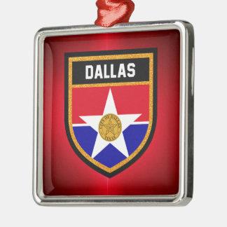 Dallas  Flag Metal Ornament