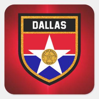 Dallas  Flag Square Sticker