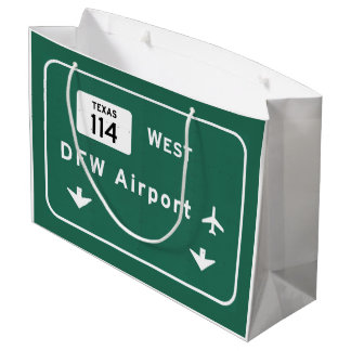 Dallas Ft Worth DFW Airport 114 Interstate Texas - Large Gift Bag