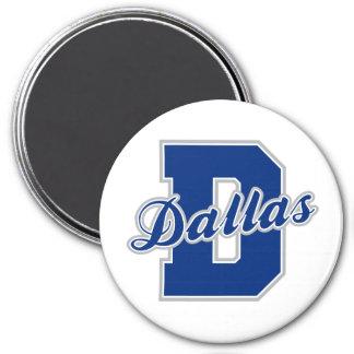 Dallas Letter 7.5 Cm Round Magnet