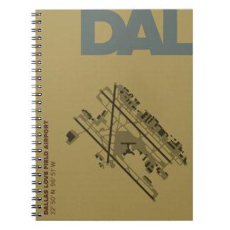 Dallas Love Field Airport (DAL) Diagram Notebook