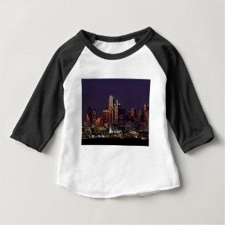 Dallas Night Skyline Baby T-Shirt