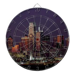 Dallas Night Skyline Dartboard