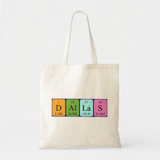 Dallas periodic table name tote bag