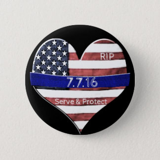 Dallas Police Memorial 6 Cm Round Badge