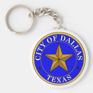 Dallas Seal Basic Round Button Key Ring