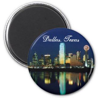 Dallas Skyline 6 Cm Round Magnet