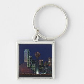 Dallas Skyline at Night Key Ring