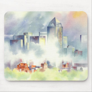 Dallas Skyline Dramatic Cityscape By Scot Howden Mousepads