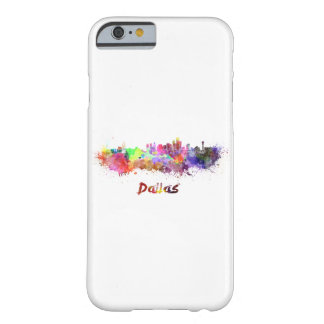 Dallas skyline in watercolor barely there iPhone 6 case
