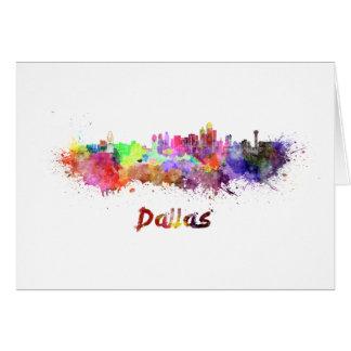 Dallas skyline in watercolor card