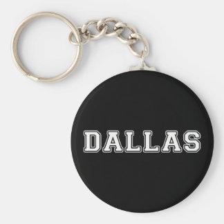 Dallas Texas Basic Round Button Key Ring
